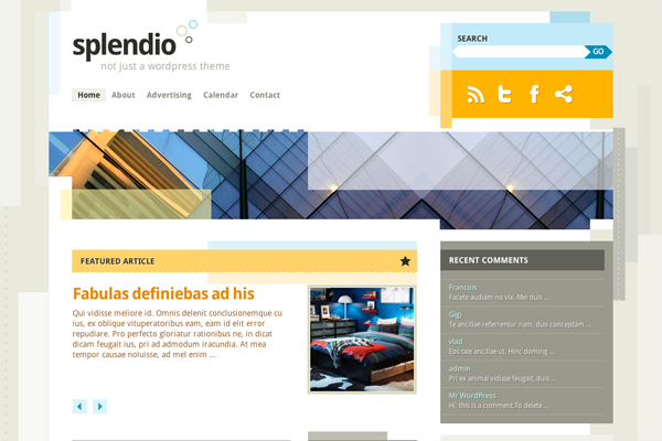 splendio premium wordpress theme